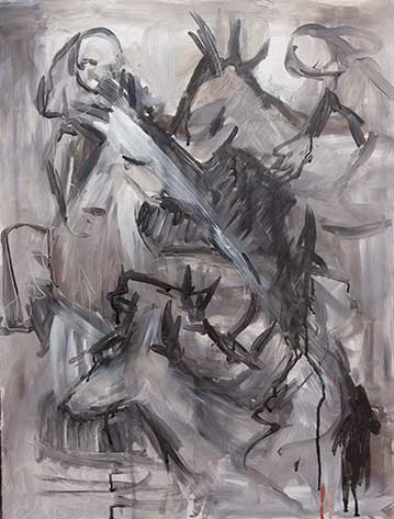 cate riley art - Girls on Horses Study