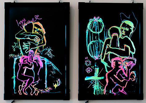 Cate and Rob Riley - Conjugal relations diptych no.1