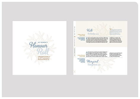 fadstudios design - ACT Women's Honour Roll