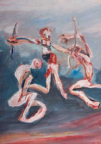 Rob Riley - Three Flying Figures with Fetish Sticks